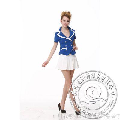 厂家专业定制 职业装女套装 蓝款经典 品质款女技师服
