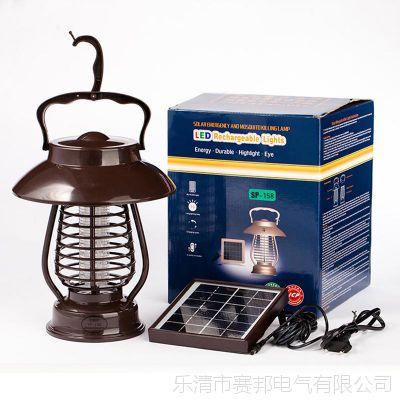 太阳能灭蚊灯 灭蚊照明两用节能高效杀虫灯 LED光捕电击灭蚊灯