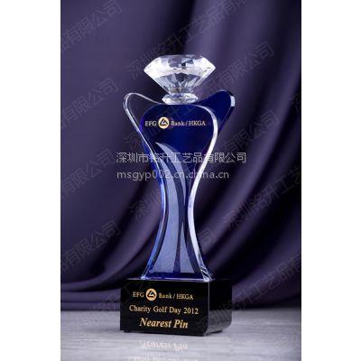 2015新款水晶奖杯 水晶钻石奖杯奖座价格 保险公司年会颁发奖杯