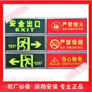 供应消防验厂安全标识牌铭牌墙贴夜光紧急疏散标志牌荧光安全出口地贴墙贴 火灾警示标志标识