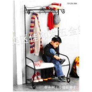 供应特价促销 铁艺衣帽架 落地挂衣架 多功能换鞋凳 门厅鞋架 收纳架