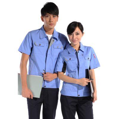 供应广东佛山工作服定做 工厂工人服生产厂家 全棉工作服订做