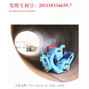供应BYNG圆柱形筒体金属内表面数控抛丸机