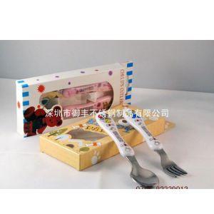 供应热卖儿童餐具 塑料柄餐具 卡通餐具