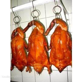 片皮烤鸭蘸酱卷饼烤鸭8一鸭三吃