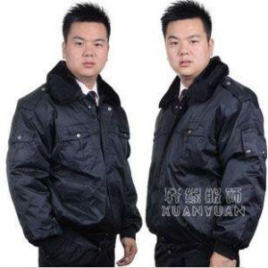 供应2012新款 保安服冬款大衣 新式多功能防寒大衣