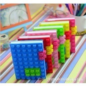 供应多彩缤纷 新款爱心积木笔记本 糖果色记事本 启示录 NOTEBOOK