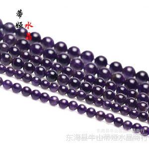 供应DIY饰品配件材料 天然水晶AAA级乌拉圭紫水晶半成品散珠子批发