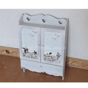 供应地中海海洋风格 木质电表箱 遮挡箱 壁架带三挂钩 家居装饰品