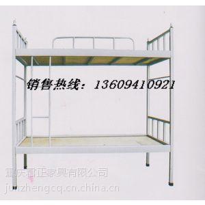 供应重庆学生上下铺铁床厂家/学生公寓床报价/学生双层铁床参数/上下铁床生产