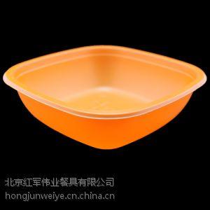 供应桔黄、黑红HJ-F02一次性碗900套一次性餐盒快餐盒一次性盖饭碗