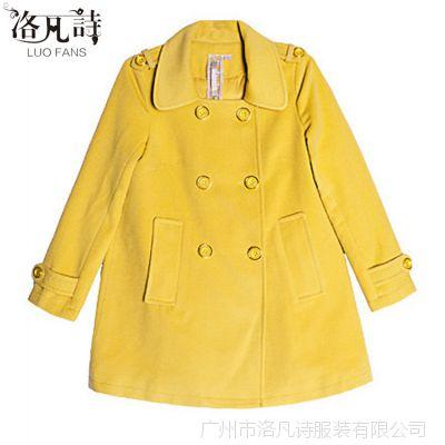 2014女装批发冬毛呢外套女长款呢子大衣大码欧美廓形大衣1155