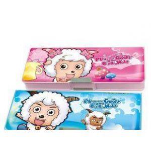 供应羊羊文具盒/p6032/喜羊羊双面笔盒/