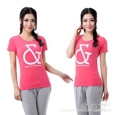 DAG女装半袖休闲短袖女T桖韩版 圆领小衫 休闲外贸T恤 工厂一手货