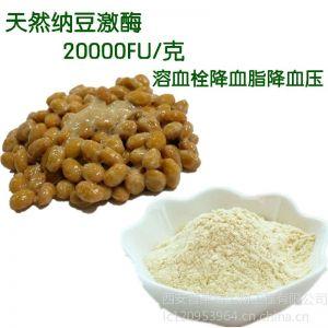 供应厂家供应天然纳豆激酶20000FU/克溶血栓降血压降血脂