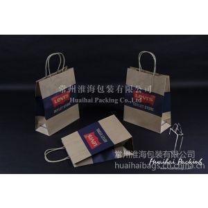 供应Levi\'s购物袋、再生纸手提袋、Levi\'s服装纸袋、机制纸袋、黄牛皮包装袋、外贸包袋厂家