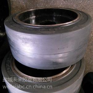12T平板拖车专用实心轮胎 拖车轮胎21x9x15sm