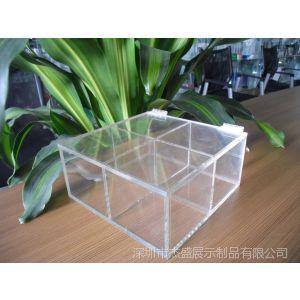 供应亚克力展示盒,活页开启包装盒,四格透明分类盒,收纳盒