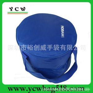 供应厂家加工生产批发保温桶 蓝色420D手提保温桶 户外外带饭菜保温桶