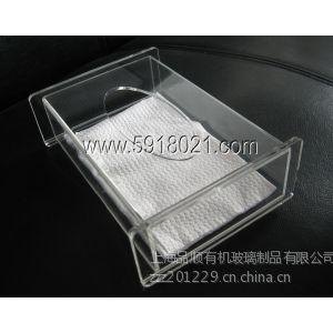 供应透明2013亚克力纸巾盒高档水晶餐巾盒有机玻璃餐巾纸抽纸盒