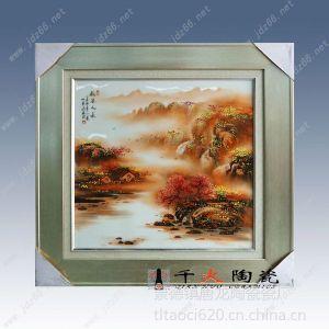 景德镇手绘青花瓷板画,收藏礼品瓷板画,送领导礼品瓷板画