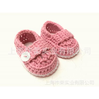 [厂家直销]手工毛线鞋 针织毛线婴儿鞋 毛线编织童鞋 手钩毛线鞋