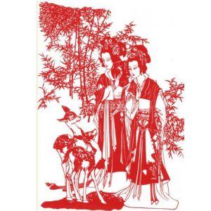供应仕女 剪纸 手工剪纸 中国剪纸 民间剪纸艺术
