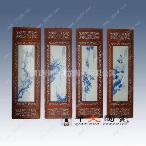 供应梅兰竹菊瓷板画 酒店装饰画 景德镇瓷板画价格