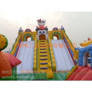 供应2014年销售新款式儿童充气城堡乐园|144平方KT猫充气大滑梯乐园气泡