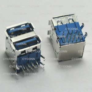 供应电脑连接器USB 3.0 双层插座