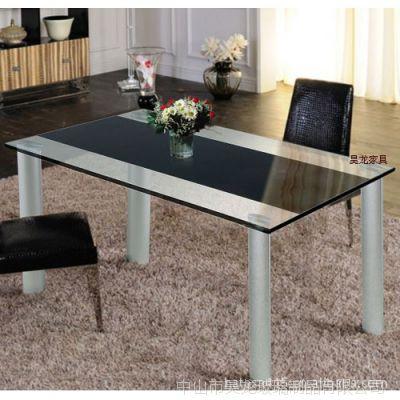 昊龙玻璃系列/玻璃家具 家私餐桌 防水 线条 桌 新款 CZ001
