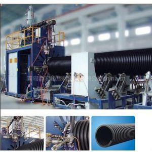 供应HDPE塑钢缠绕管生产线 大口径管材挤出机 双平壁缠绕管设备