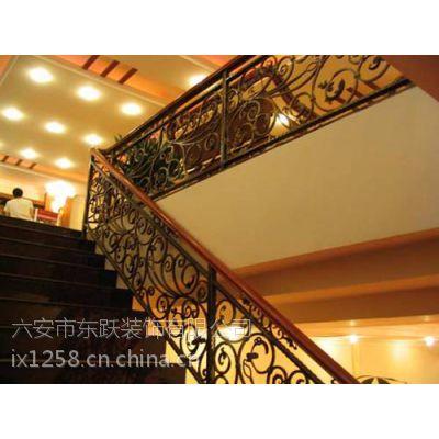 供应不锈钢楼梯铁艺扶手,六安东跃装饰(图),别墅楼梯铁艺扶手