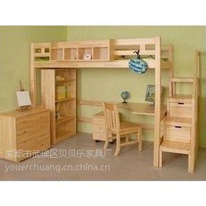 供应西安学生公寓床 实木上下床 组合高低床