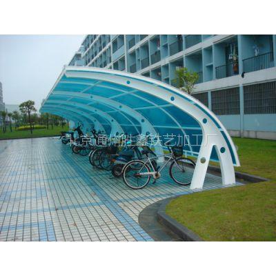 北京安装 阳光棚 车库棚 铁艺阳光棚 地下通道棚