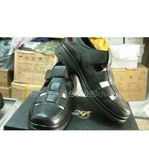 3515强人皮鞋军靴 男式休闲皮鞋牛皮透气凉鞋