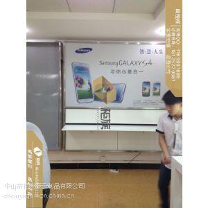供应长乐市三星手机挂墙体验柜规格,三星手机体验台工厂图