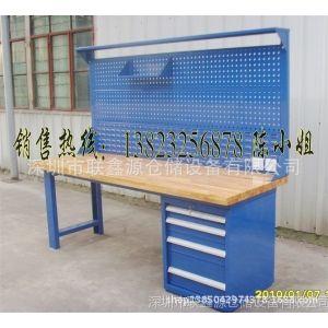供应四抽实木台面工作台、实验室工作台、带灯架工作台