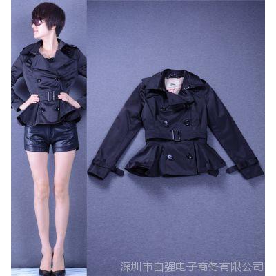 欧洲站女装卓帛绫秋冬新款欧美大牌同款长袖短装风衣外套Z1454