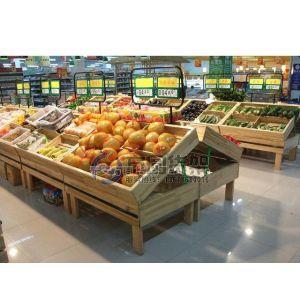 供应果蔬货架 木质展架 超市生鲜设备