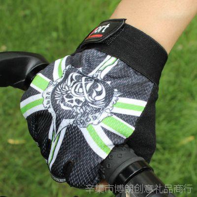 秋季防滑防晒透气男女分指薄款手套半指手套 户外运动手套防滑