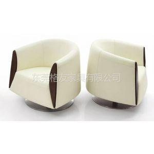 格友家具生产批发现代简约高档真皮单人沙发