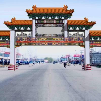 供应西安农村大门,陕西仿古牌坊,西安农村古典大门