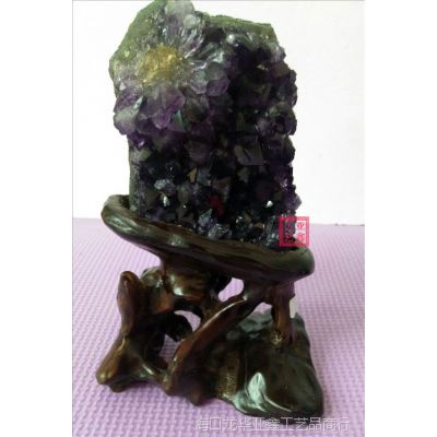 天然乌拉圭紫晶洞商务家具办公摆件紫水晶原石批发