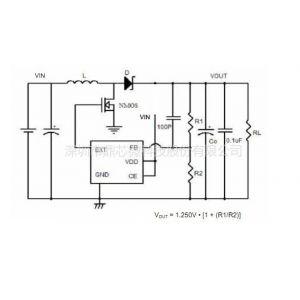 供应3v升5V1.5A 2A内置mos管 简单电路升压ic