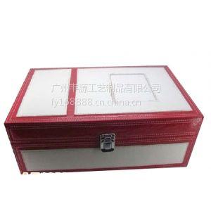 供应紫色鳄鱼纹高档皮盒 礼品包装盒 SHUNLI 收纳盒储物盒