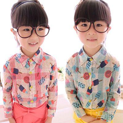 儿童装女童长袖衬衫 2014童装品牌加盟代理 免费代理代发
