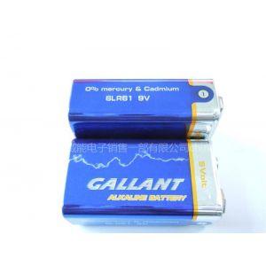 威能直销9V/6F22柱式电池,万用表专用电池