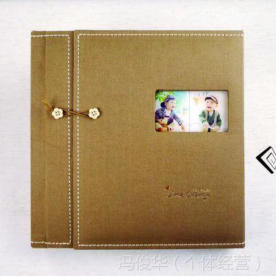 经典时尚儿童记录相册 DIY儿童相册套装(帆布三段)厂家直销