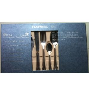 供应不锈钢西餐具24件套彩盒装